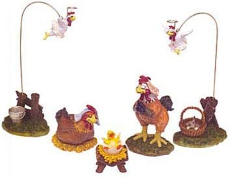 chickens nativity