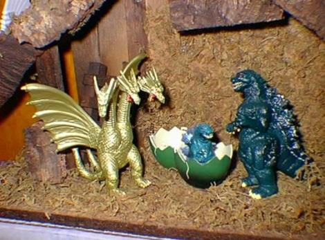 godzilla nativity