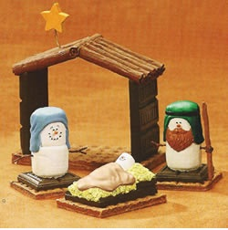 more marshmellows nativity