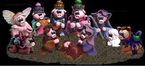 pigs nativity