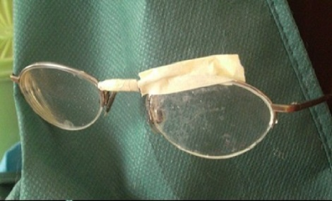 masking tape glasses