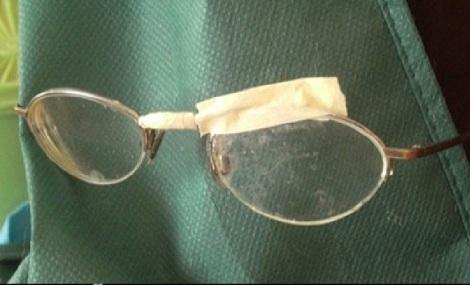 masking tape glasses