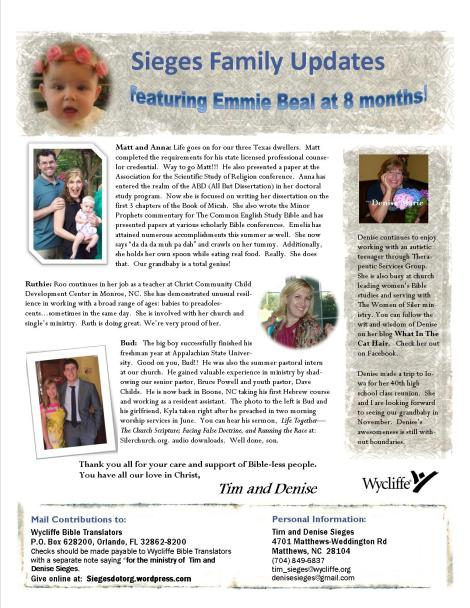 August 2013 Newsletter page 2