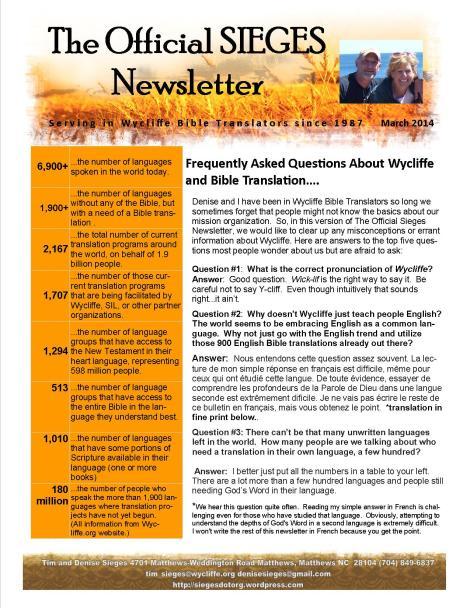 march 2014 newsletter