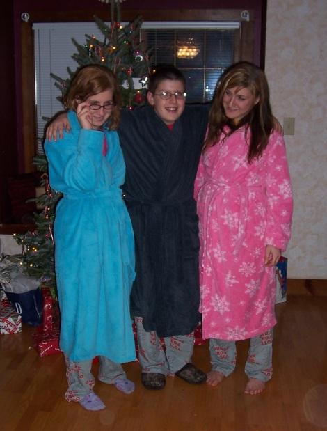 matching robes christmas