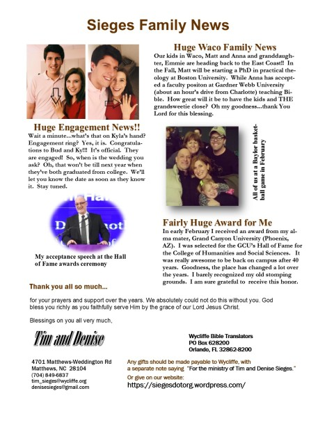 March 2015 Newsletter 2