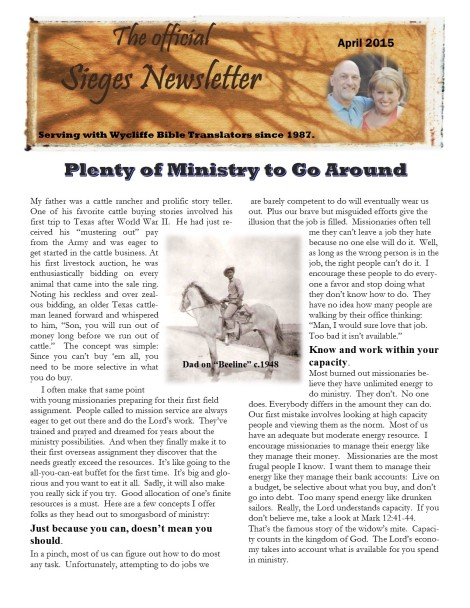March 2015 Newsletter